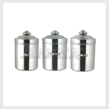 Tea Coffee Sugar Canister Steel Stainless Canisters